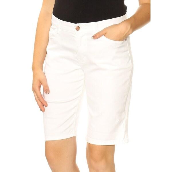 LEE Womens White Bermuda Short Petites Size: 10