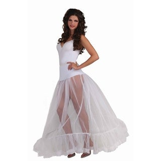 White Adult Ballroom Length Costume Crinoline Slip OneSizeFitsMost