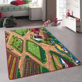 "Allstar Kids / Baby Room Area Rug. Farm / Farmer Landscape. Bright Colorful Vibrant Colors (4' 11"" x 6' 11"")"