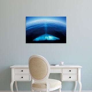 Easy Art Prints Amos Nachoum's 'Blue Whale Tale' Premium Canvas Art