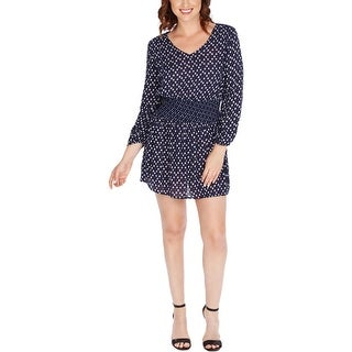 Lucky Brand Womens Casual Dress Printed Bishop Sleeve