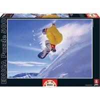Snowboarder 500 Piece Puzzle, Board Sports by John N. Hansen