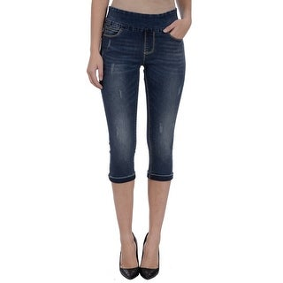 Lola Jeans Michelle-SN, Mid-rise Pull On capris