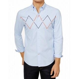 Tommy Hilfiger Blue Mens Size XL Button Down Custom Fit Shirt
