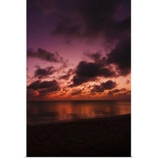 """""""Aruba, sea at sunset"""" Poster Print"""