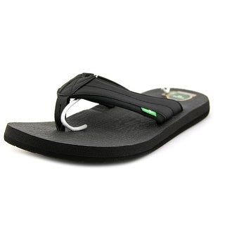 Sanuk Beer Cozy 2 Men  Open Toe Synthetic Black Flip Flop Sandal