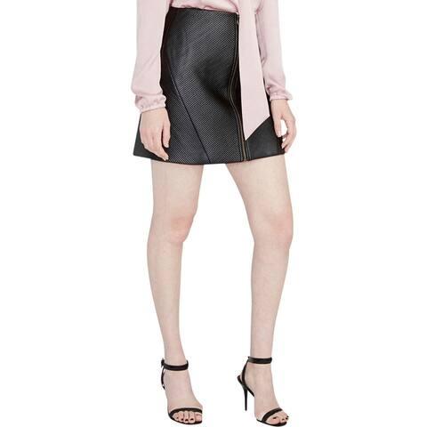Rachel Rachel Roy Womens Mini Skirt A-Line Zip Front