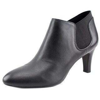 Bandolino Wilbur Women Pointed Toe Leather Black Bootie