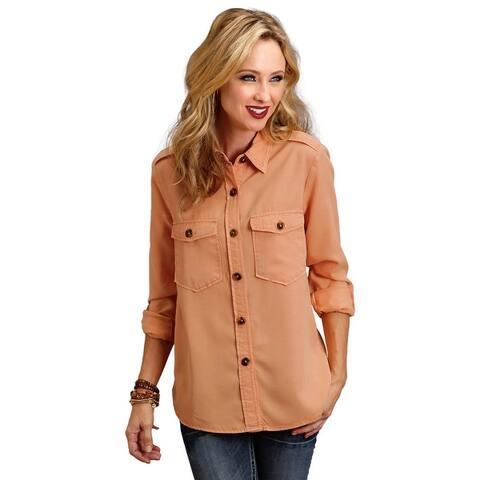 Stetson Western Shirt Women L/S Solid Button Pleat