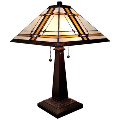 Tiffany Style Mission Table Lamp AM1053TL14 Amora Lighting