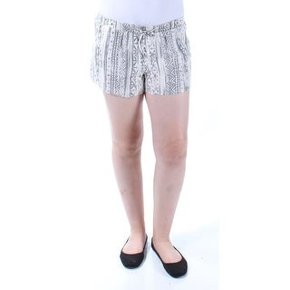 AMERICAN REWASH $51 1187 Gray Ivory Tribal Tie Cropped Short Juniors M B+B