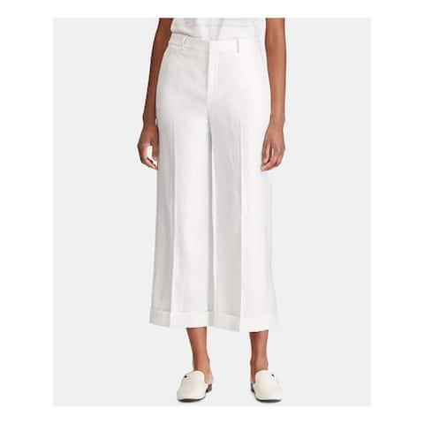 RALPH LAUREN Womens White Wide Leg Pants Size 6