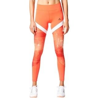 Adidas Womens Athletic Leggings Printed Pull On - XS