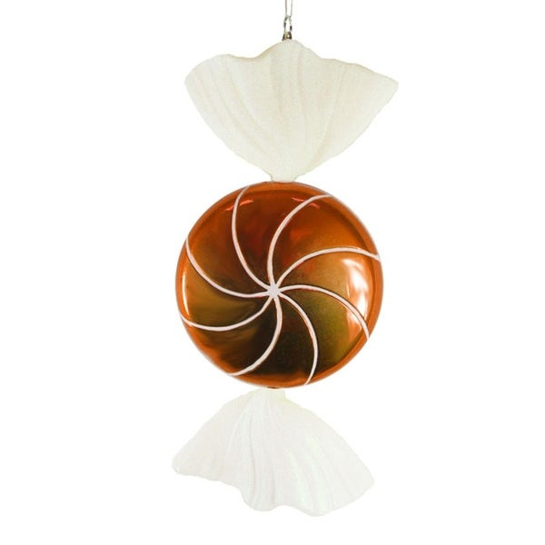 """Candy Fantasy Wrapped Orange Dreamsicle Candy Christmas Ornament Decoration 18"""""""
