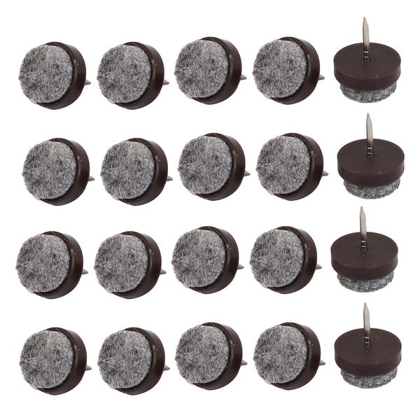 Table Legs Floor Protector Felt Furniture Feet Nails Coffee Color 17mm Dia 20pcs On Free Shipping Orders Over 45 18450519