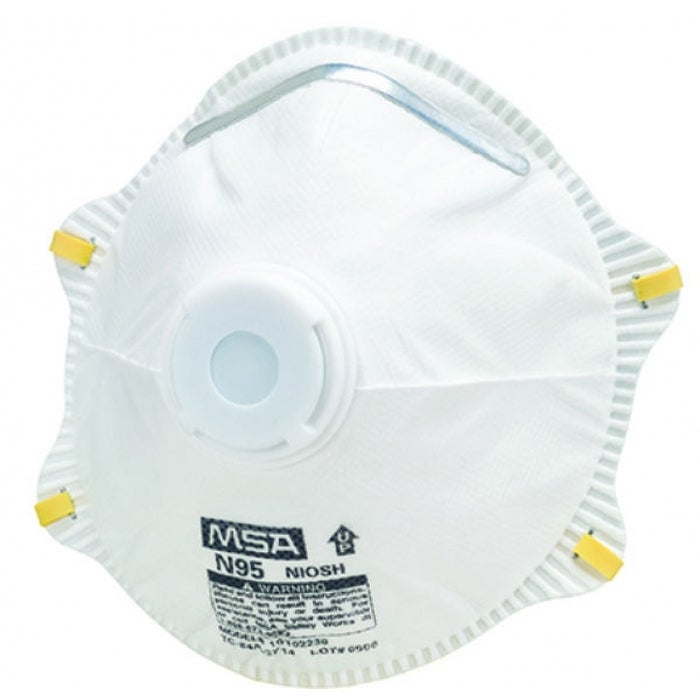 Works With Dust N95 Safety 10-pack 10102483 Harmful Valve Respirator Msa