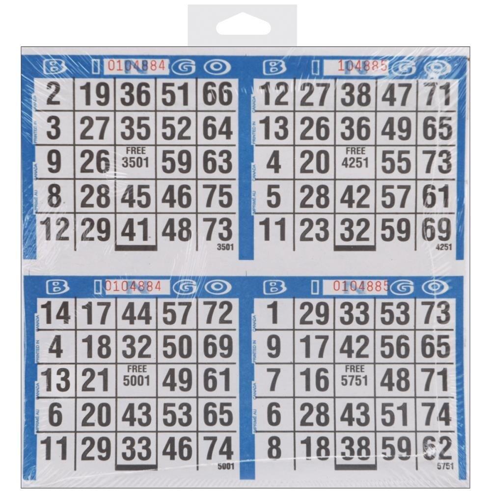 Assorted 9 on 15 Bingo Paper