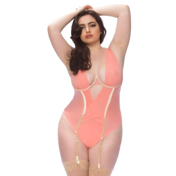 Plus Size Radiant Gartered Teddy