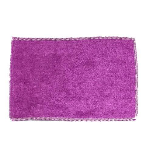 "9"" x 8"" Rectangular Dish Cleaning Purple Bamboo Wash Cloth"