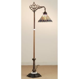 Meyda Tiffany 65841 Stained Glass / Tiffany Floor Lamp from the Jeweled Peacock Collection