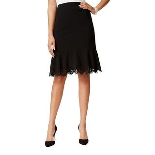 Nine West Womens Straight Skirt Cut-Out Lined