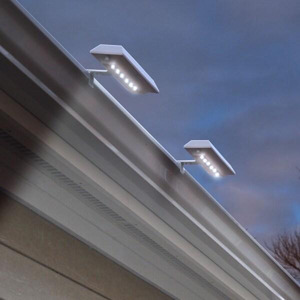 Solar LED Gutter/Fence Accent Light - 2 Pack