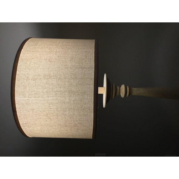 Latte Spindle Floor Lamp with Cream Shade - Free Shipping Today ...
