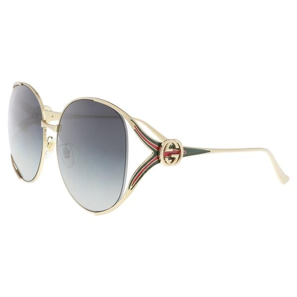 1fbe230840 Shop Gucci GG0225S-001 Gold Square Sunglasses - 63-17-130 - Free ...