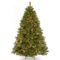 7.5 ft. Winchester Pine Tree with Multicolor Lights - green