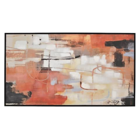 Plutus Brands Painting W/frame-oil On Canvas in Multi-Colored Natural Fiber