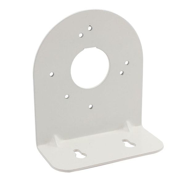 Silver Tone Right Angle CCTV Dome Camera Wall Mount Bracket 115mm x 103mm x 50mm