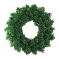 "16"" Decorative Green Pine Artificial Christmas Wreath- Unlit"