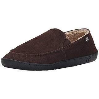 Isotoner Mens Suede Lined Slip-On Slippers
