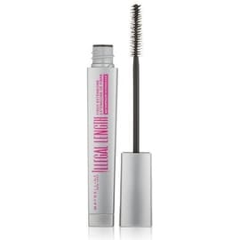 Maybelline New York Illegal Length Fiber Extensions Waterproof Mascara, Blackest Black [940] 0.22 oz