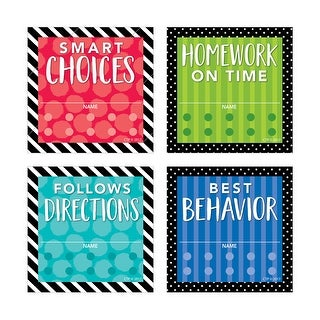 (6 Pk) Classroom Mgmt Incentive Punch Card