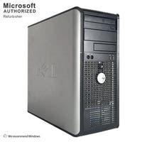 Dell OptiPlex GX780 Computer Tower Intel Core 2 Duo E8400 3.0G 8GB DDR3 2TB W10P64(EN/ES) 1 Year Warranty (Refurbished)-Silver