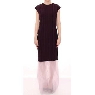 Barbara Casasola Barbara Casasola Purple Lavender Gown Maxi Silk Long Dress - it44-l