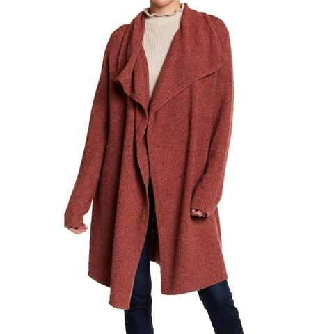 Joseph A. Red Womens Size Large L Flyaway Knit Cardigan Sweater
