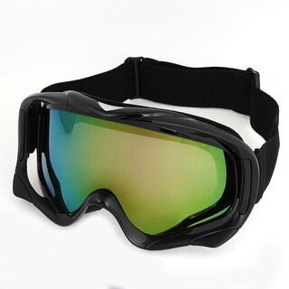 Outdoor Sports Colored Lens Black Full Rim Ski Goggles for Men Woman