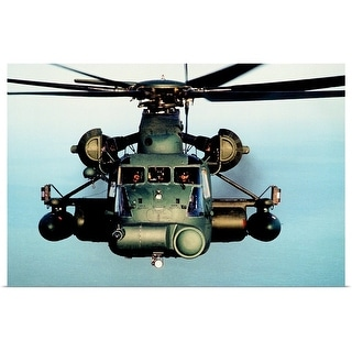 """""""Military Helicopter in flight"""" Poster Print"""