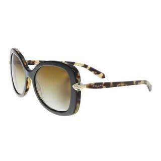 Bulgari BV8202B 5443T5 Black/ Blonde Havana Butterfly Sunglasses - 54-18-145