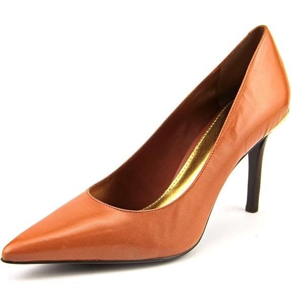 Lauren Ralph Lauren Sarina Women Pointed Toe Leather Tan Heels