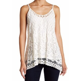 Karen Kane NEW White Ivory Womens Size Small S Sheer Lace Cami Top