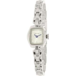 Bulova Women's Classic 96L221 Silver Stainless-Steel Quartz Fashion Watch