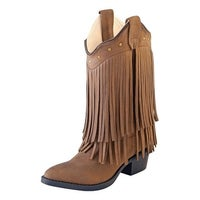 b8922a50bd03 Shop Smoky Mountain Western Boots Girls Wisteria Leather Fringe ...