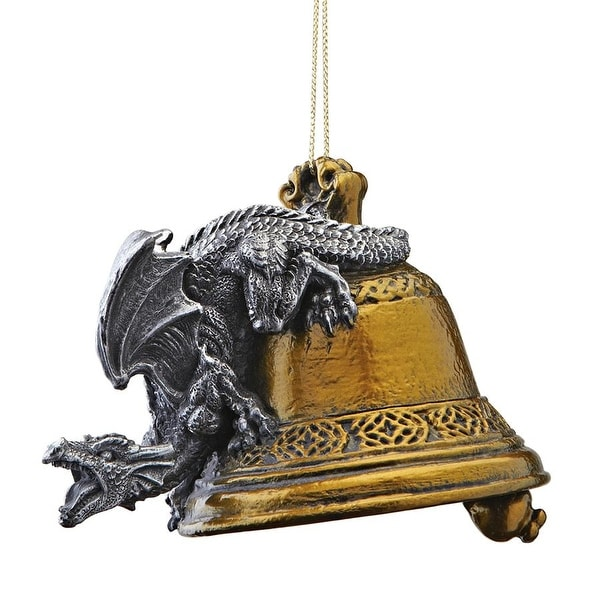 Design Toscano Humdinger the Bell Ringer Gothic Dragon Holiday Ornament