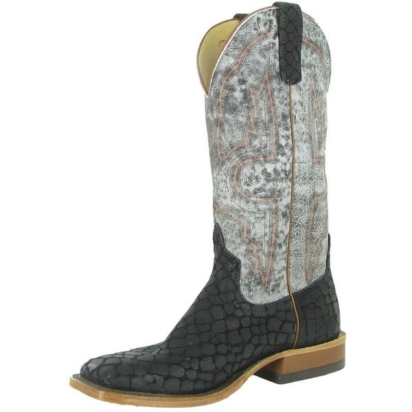 Anderson Bean Western Boots Mens Square Toe Black Monster