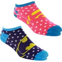 Supergirl and Batgirl Ankle Socks - 2 Pack