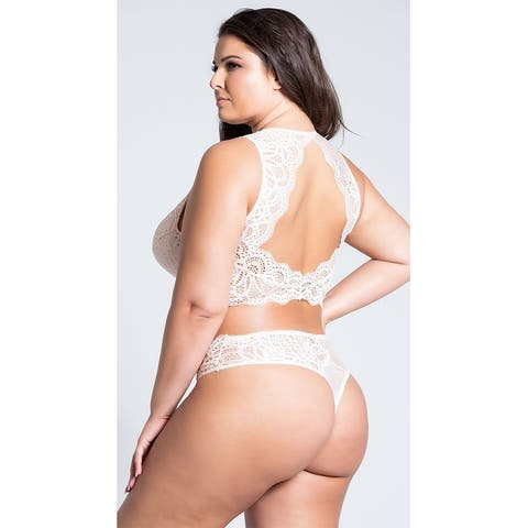 Plus Size Stephanie Lace Thong