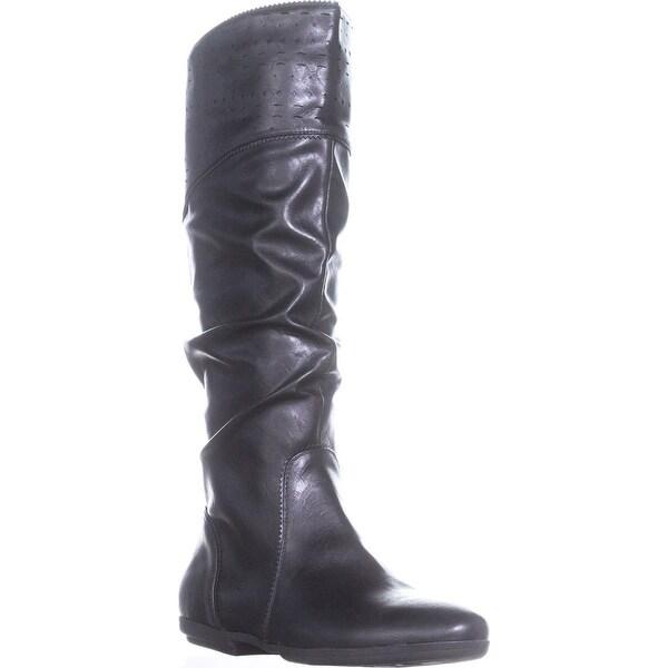 Seven Dials Dillon Mid-Calf Boots, Black Smooth - 9 us